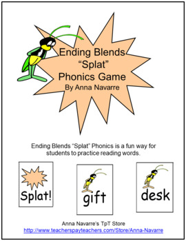 "Ending Blends ""Splat"" Phonics Game"