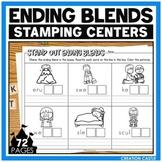 Ending Blends Worksheets for Stamping Center