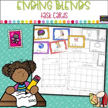 ENDING BLENDS WORKSHEET ND   blends worksheet   Ending Blends Picture Cards Printable
