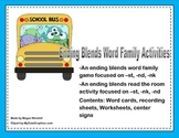 Ending Blends Word Family Activities