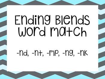 Ending Blends Word Match