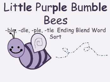 Ending Blends Word Sort: ble, dle, ple, tle