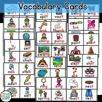 Ending Blends Games with lf, lt, lp, mp, nd, nk, sk, nt ...   Ending Blends Picture Cards Printable