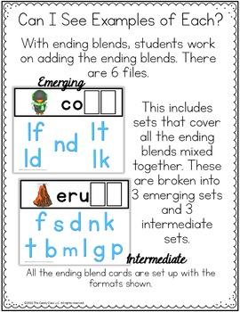 Ending Blends Word Work - Paperless Phonics Activities