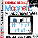Ending Blends Word Work - Paperless Phonics Activities