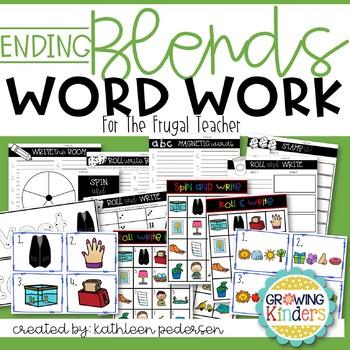 Ending Blends Word Work for the Frugal Teacher