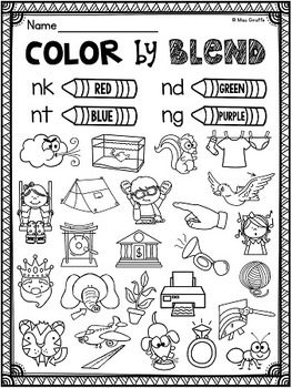 Ending Blends Worksheets and Activities