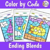 Ending Blends Worksheets Color by Code