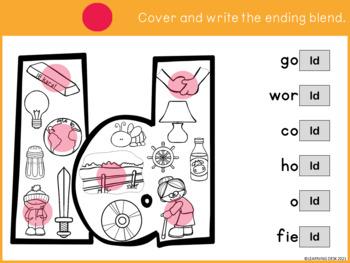 Ending Blends Worksheets (Find and Write)