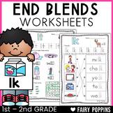 Ending Blends Worksheets {Phonics Workbook}