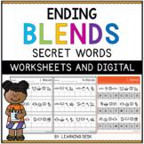 Ending Blends Worksheets (Secret Words)
