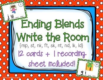 Ending (Final) Blends Write the Room / Center Activity