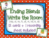 Ending (Final) Blends Write the Room / Center Activity