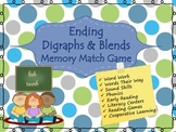 Ending Blends and Digraphs Memory Game (Phonics)