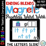 Ending Blends Digital Word Work - Paperless Phonics Activities for Google Use