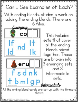 Ending Blends Digital Word Work Phonics for Google Classroom Distance Learning