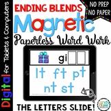 Ending Blends Digital Word Work - Paperless Phonics Activi