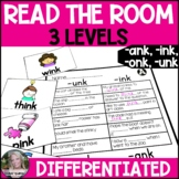 Ending Blends (-ink, -ank, -unk, -onk) Read the Room/Write