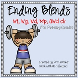 Ending Blends nd, nk, nt, ck, mp for Primary Grades   Distance Learning