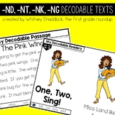 Ending Blends ND NT NK NG Decodable Readers and Passages
