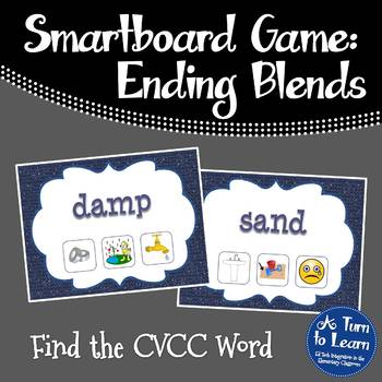 Ending Blends/CVCC Words Find the Picture Game for Smartbo