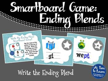 Ending Blends/CVCC Words Game for Smartboard or Promethean Board!