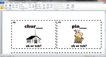 Ending CH Sound - CH or TCH - Phonics/Spelling Task Cards