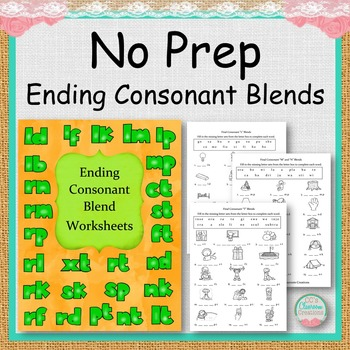 NO PREP Ending Consonant Blends