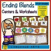 Ending Consonant Blends Centers & Activities