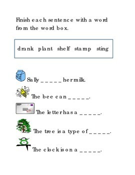 Ending Consonant Blends Write Fill in the Word Emergent Reader Reading Printable