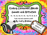 Ending Consonant Blends Games and Activites st, sk, sp, nd