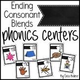 Ending Consonant Blends Literacy Centers
