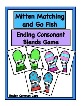 Ending Consonant Blends Mittens Game