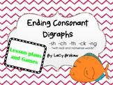Ending Consonant Digraphs Games Pack sh ch th ck ng