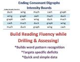 Ending Consonant Digraphs Intensity Boards