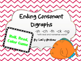 Ending Consonant Digraphs Read Roll Color game sh ch th ck ng