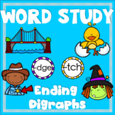 Ending Consonant Digraphs tch and dge Word Study