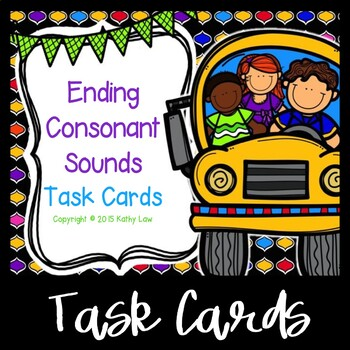 Ending Consonant Sounds Task Cards