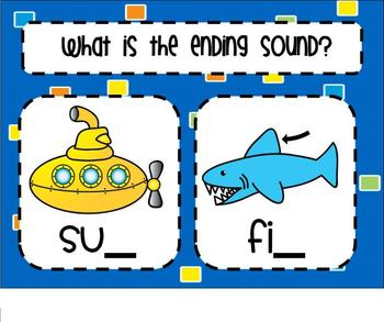 Ending Consonants SMARTBoard Lesson & Scoot Game