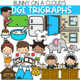 Ending -DGE Trigraphs Clipart by Bunny On A Cloud