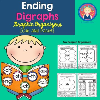 Ending Diagraphs Graphic Organizers {Cut and Paste} for K-1
