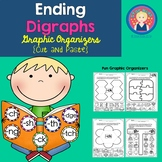 Ending Digraphs Graphic Organizers {Cut and Paste} for K-1