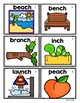Ending Digraphs Picture Cards for Kindergarten and First Grade