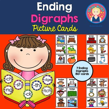 Ending Diagraphs - Picture Cards