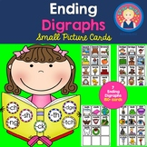 Ending Digraphs Picture Cards for Small Pocket Charts for K-1