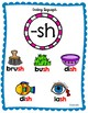 Ending Diagraphs Anchor Charts for Kindergarten and First Grade