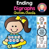 Ending Digraphs Anchor Charts for Kindergarten and First Grade