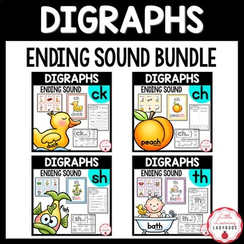 Ending Digraph Bundle {/ch/, /ck/, /sh/, /th/ resources & printables}