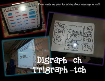Ending Digraph -CH and -TCH PPT and Printables