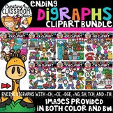 Ending Digraphs Clipart Growing Bundle {Digraphs Clipart}